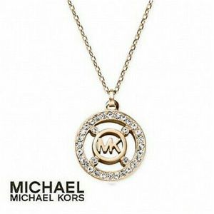 Michael Kors Fulton Heritage Gold Tone Necklace